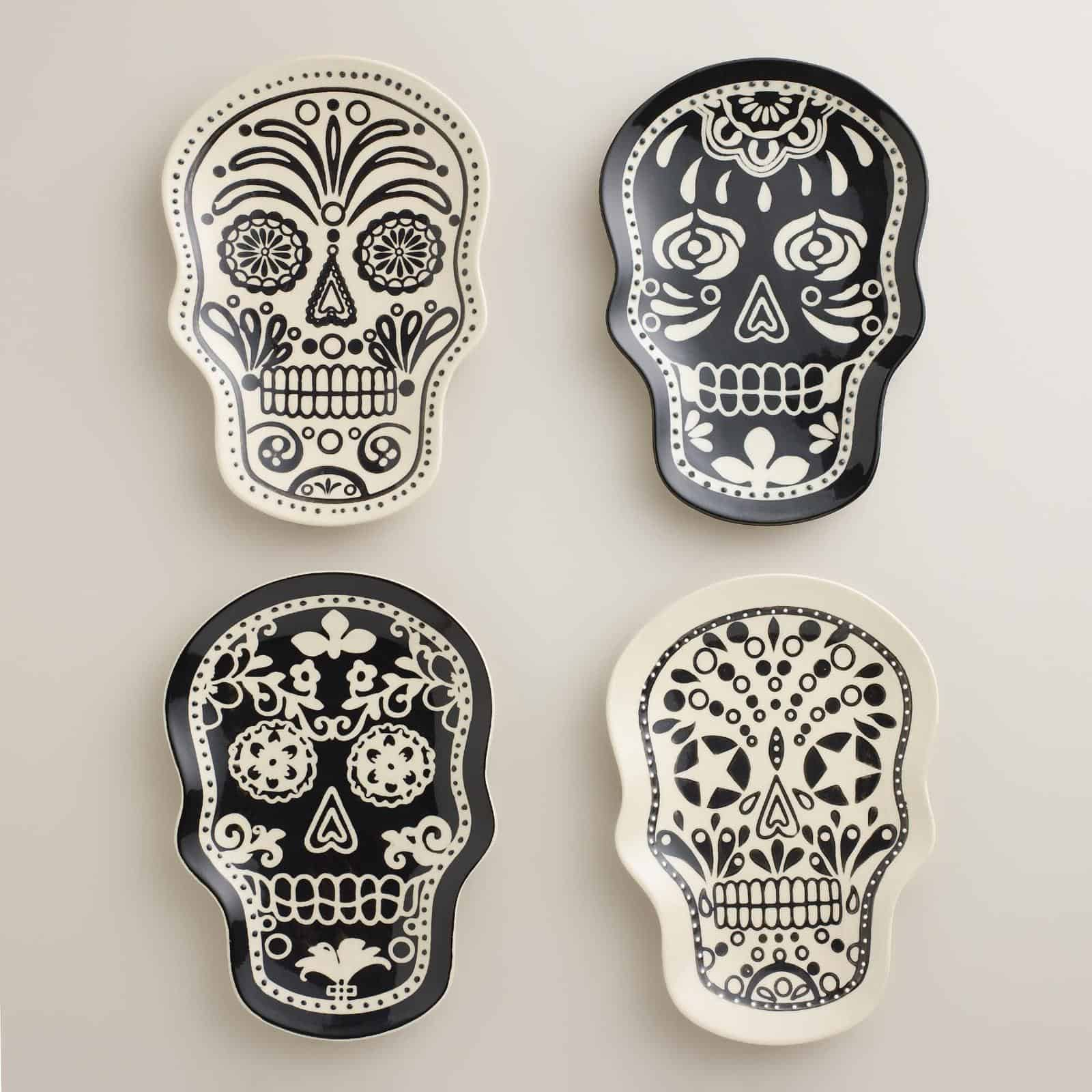 Day of the dead decor its the new halloween view in gallery day of the dead decor muertos plates world dailygadgetfo Choice Image