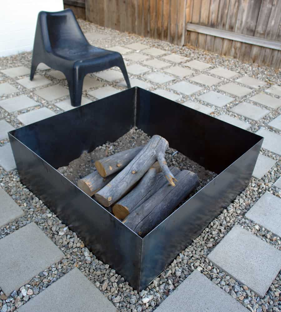 Perfect Geometric Metal Fire Pit Designs