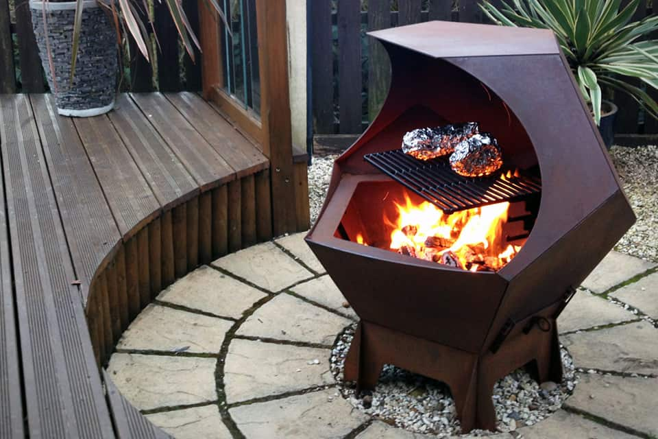 View In Gallery Metal Decahedron Fire Pit Barbecue