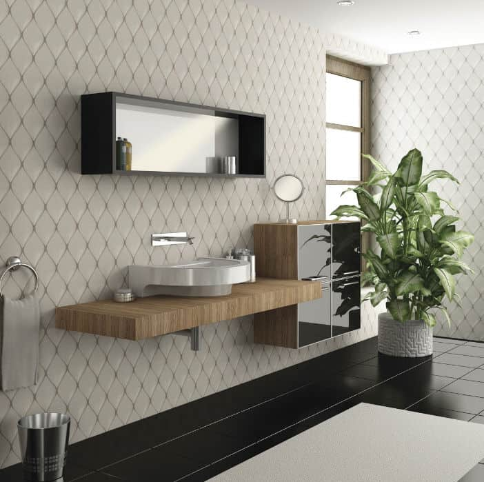 View In Gallery Unusual Tile Ideas 3d Ceramic