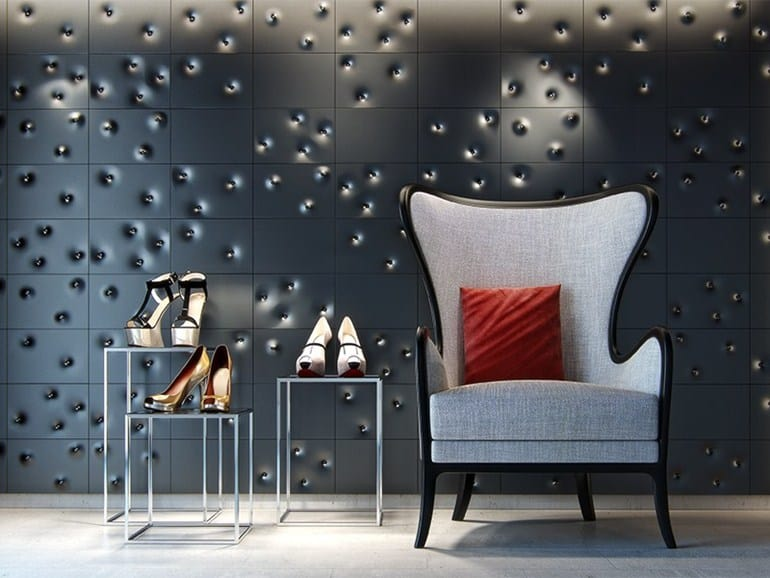 Nice View In Gallery Unusual Tile Ideas 3d Wall Dark