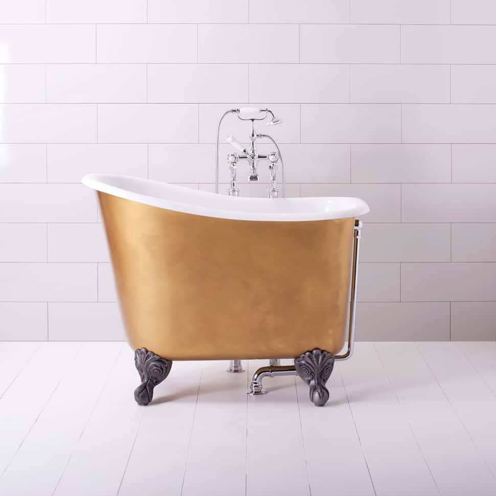 small corner bathtub with shower. View in gallery mini bathtubs showers albion gold jpg Mini Bathtub and Shower Combos for Small Bathrooms