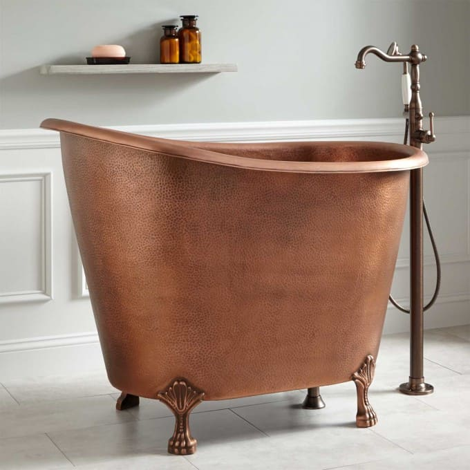View In Gallery Copper Clawfoot Soaking Mini Tub