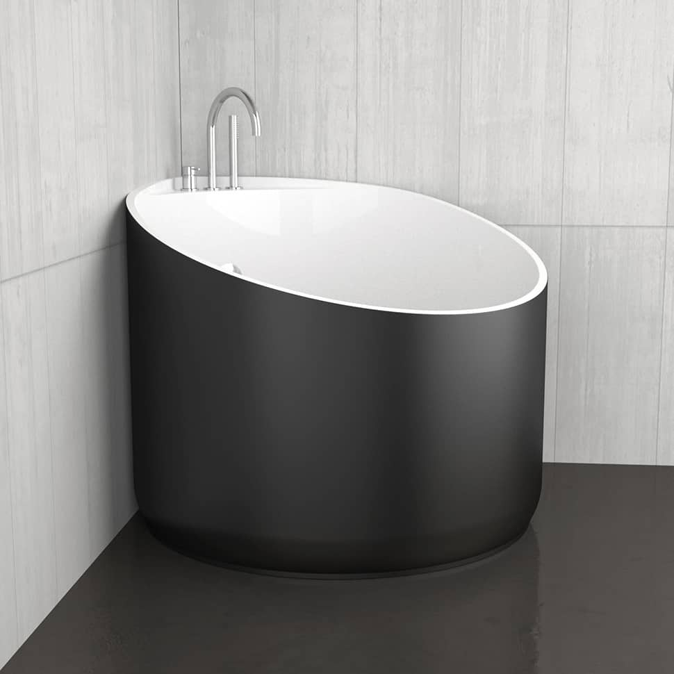 Good View In Gallery Mini Bathtubs Glass Design Black