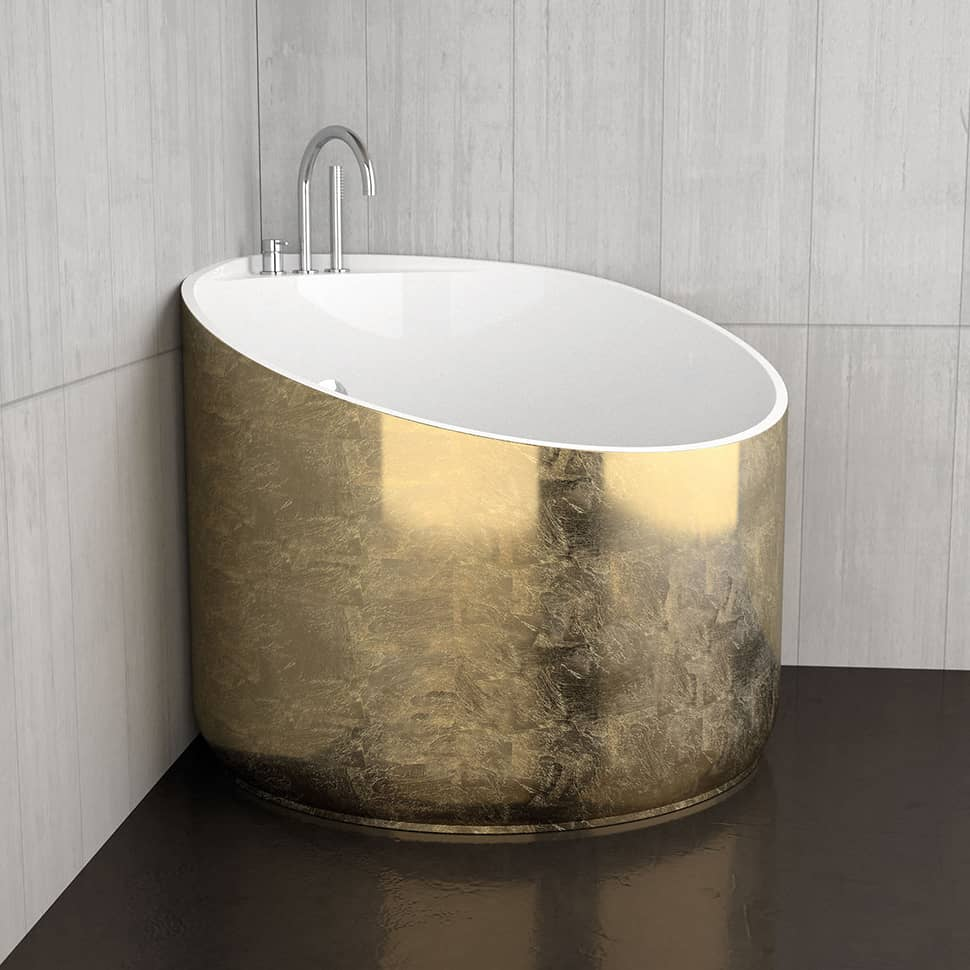 Perfect View in gallery mini bathtubs glass design gold