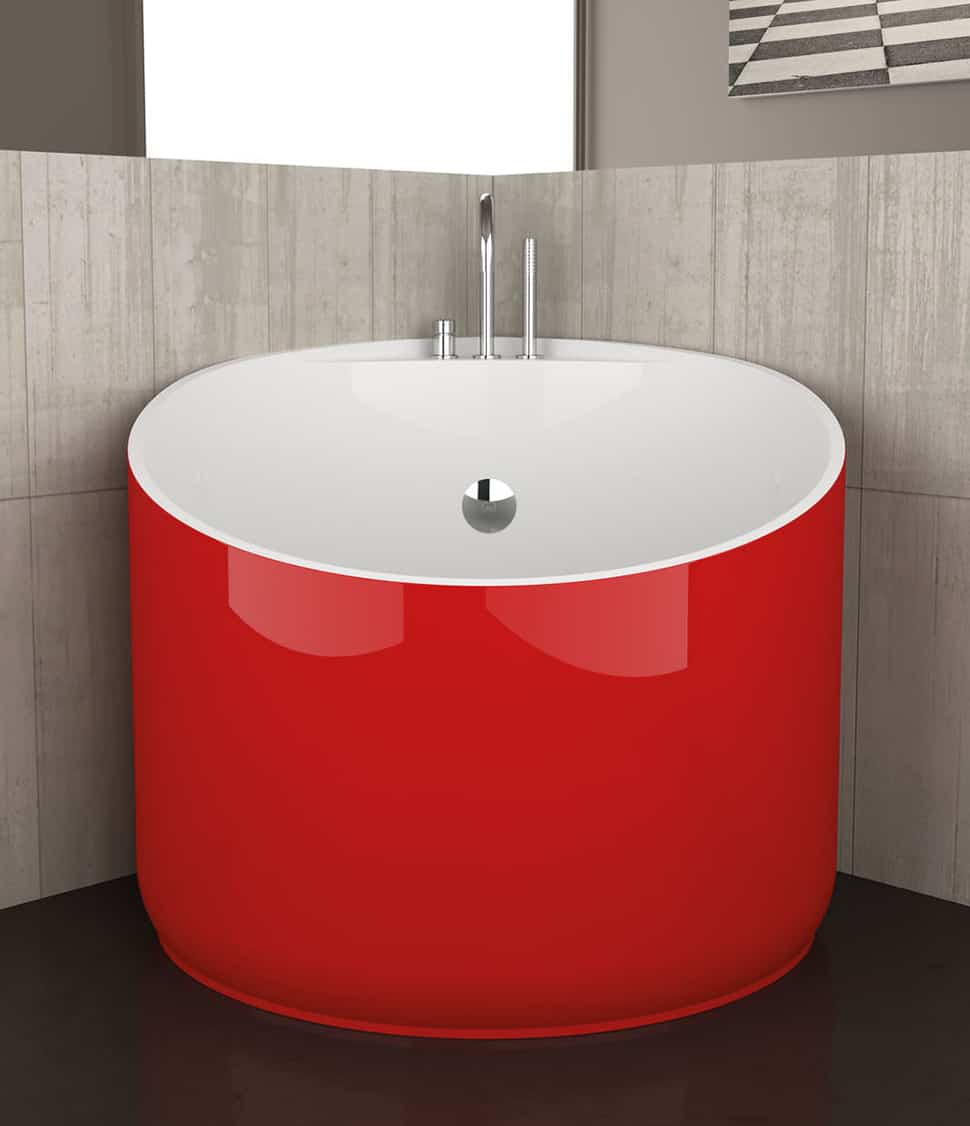 View In Gallery Mini Bathtubs Glass Design Red