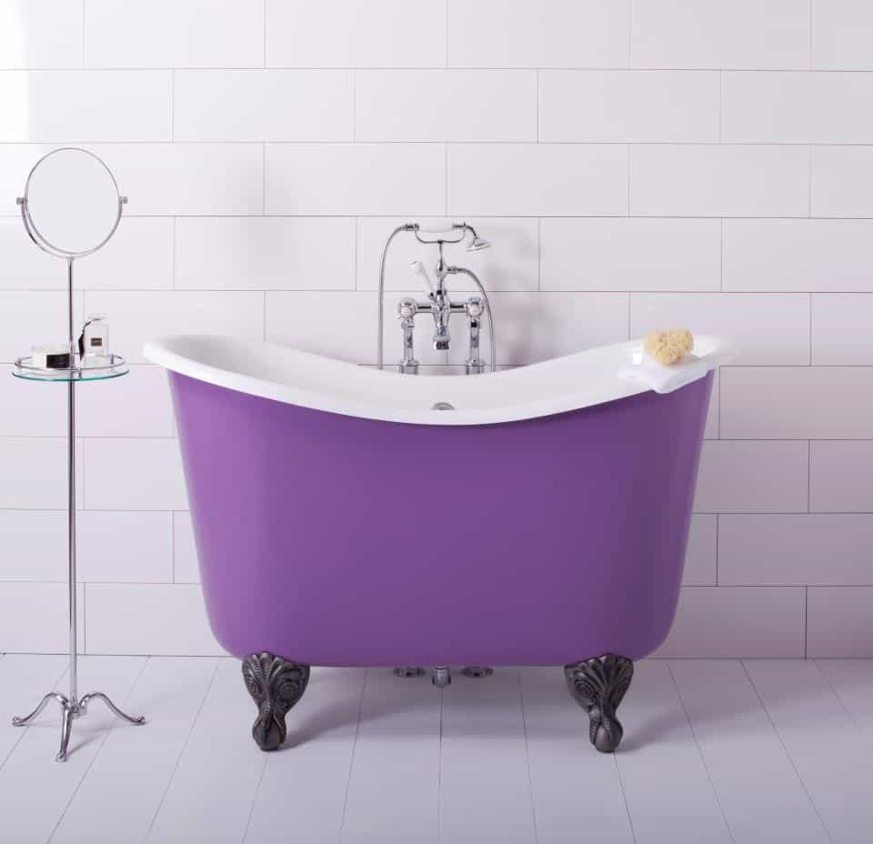 View in gallery mini bathtubs showers albion lavender Mini Bathtub and  Shower Combos for Small Bathrooms