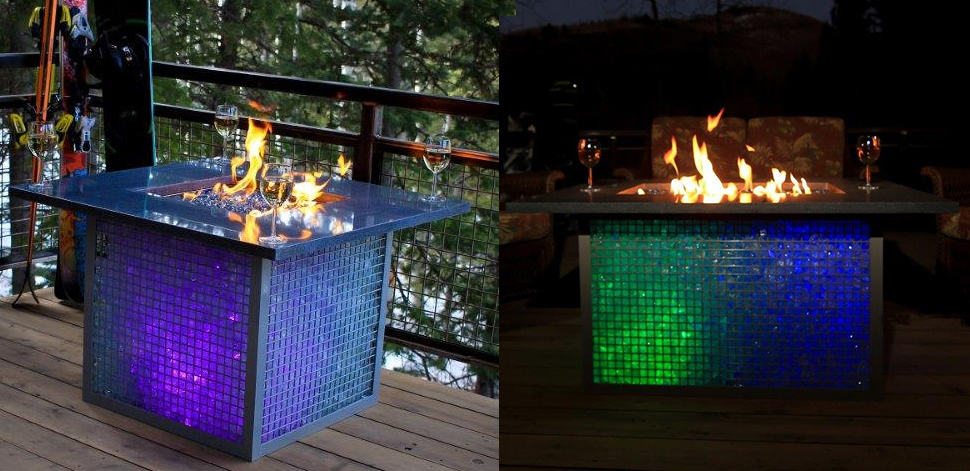 Metal Fire Pit Designs And Outdoor Setting Ideas - Large outdoor fire pit table