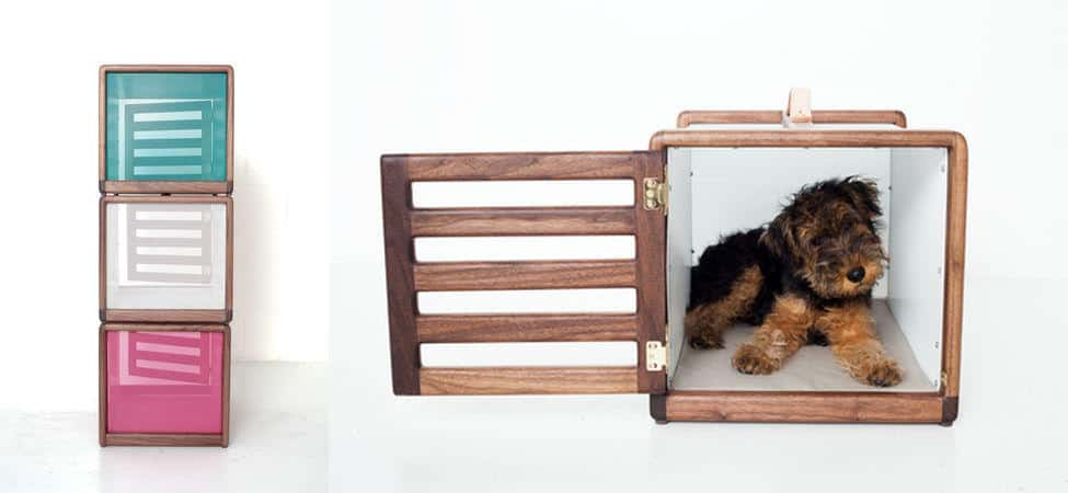 Dog Bed And Coffee Table Design Boasting A Definite Mid Century Aesthetic It Even Has Removable Panels To Turn The Into Transportable Crate