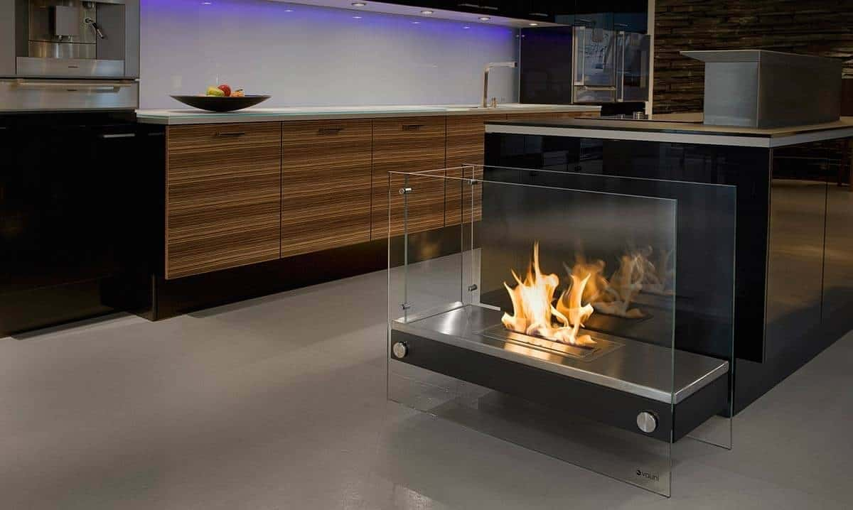 15 bio ethanol fireplaces with geometric designs. Black Bedroom Furniture Sets. Home Design Ideas