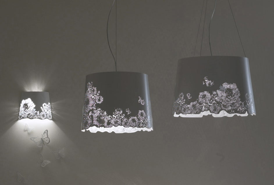 Central park is a lovely delicate hanging lamp with a bright sparkle of flowers and lights and butterflies the butterflies are metal and magnetic