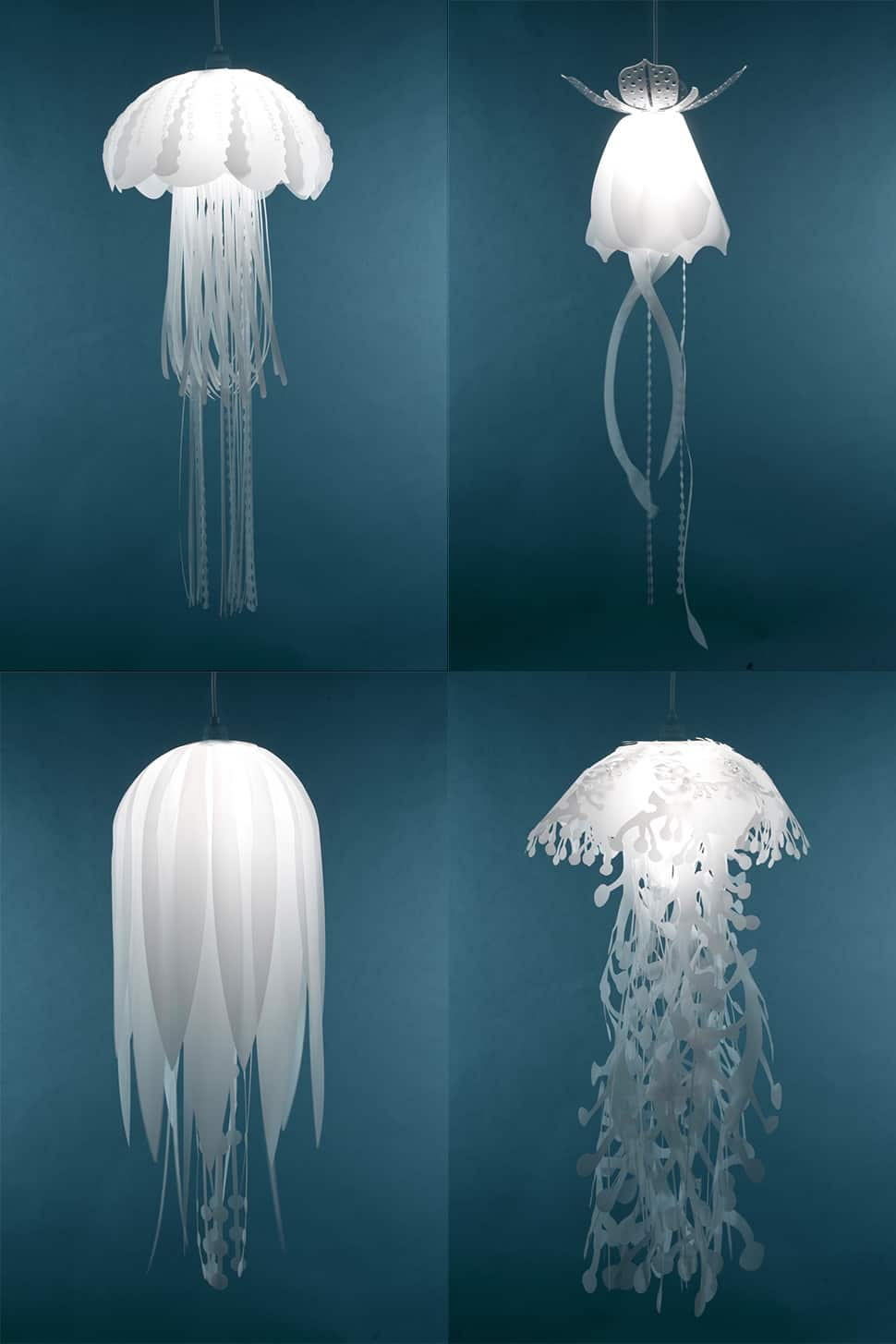 25 coolest hanging lights for modern rooms for Jellyfish lights