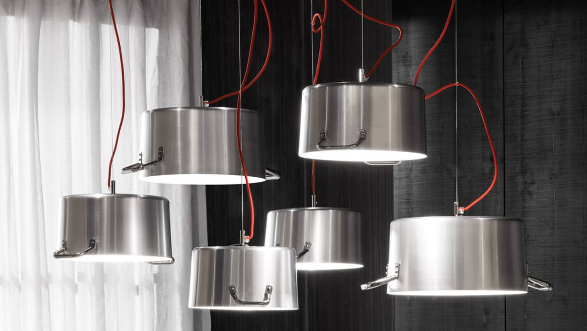 Minacciolo Pot Lamps (above And Below) Are Made From Real Pots! How Clever  Is That Idea? Just Perfect For That Industrial Loft Kitchen. You Could Hang  Your ...