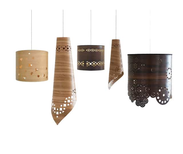 Epic These modern lampshade drums with flower and leaf pattern detailing are a great way to add a Nordic style to your decor Made to order by Hanna Francis