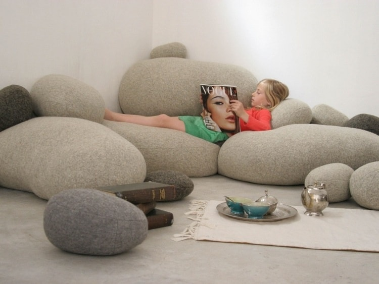 Livingstone Galet Poufs Look Just Like Stones Donu0027t They? But Donu0027t Be  Fooled. They Are Extremely Comfortable And Will Take Your Living Room To A  Whole New ...