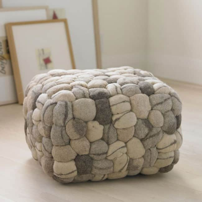 This Soft Stone Pouf Is A Work Of Art U2013 The Square Shape Looks Like Itu0027s  Made Of Pebbles U2013 Such A Contradiction Between The Visual And Sensual With  Its Soft ...