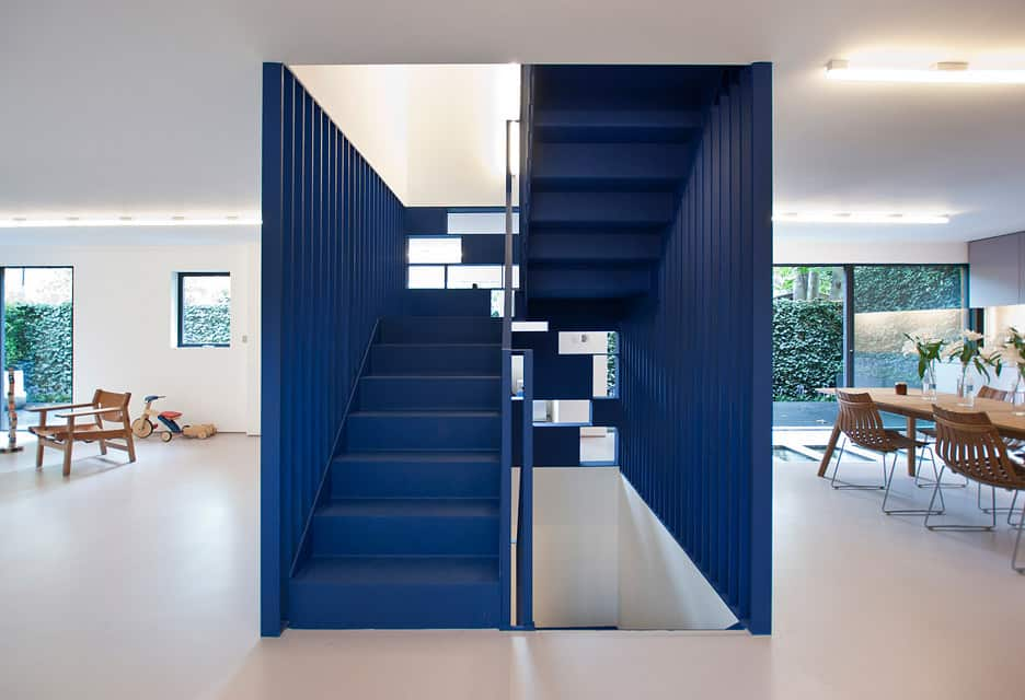 There Is Nothing More Geometric Then An Awesome Cube Design And This Blue  Stairwell By RA Projects Is Not Only Cubular It Is Also Blue To Make A  Statement ...