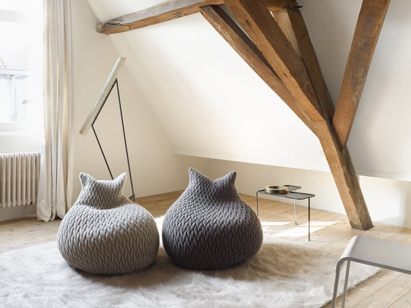 Delicieux ... Poufs By Casalis Are Made In A Three Dimensional Elastic Fabric And  Their Shapes Are Highly Flexible. Itu0027s Like Sinking Down Into A Piece Of  Furniture ...