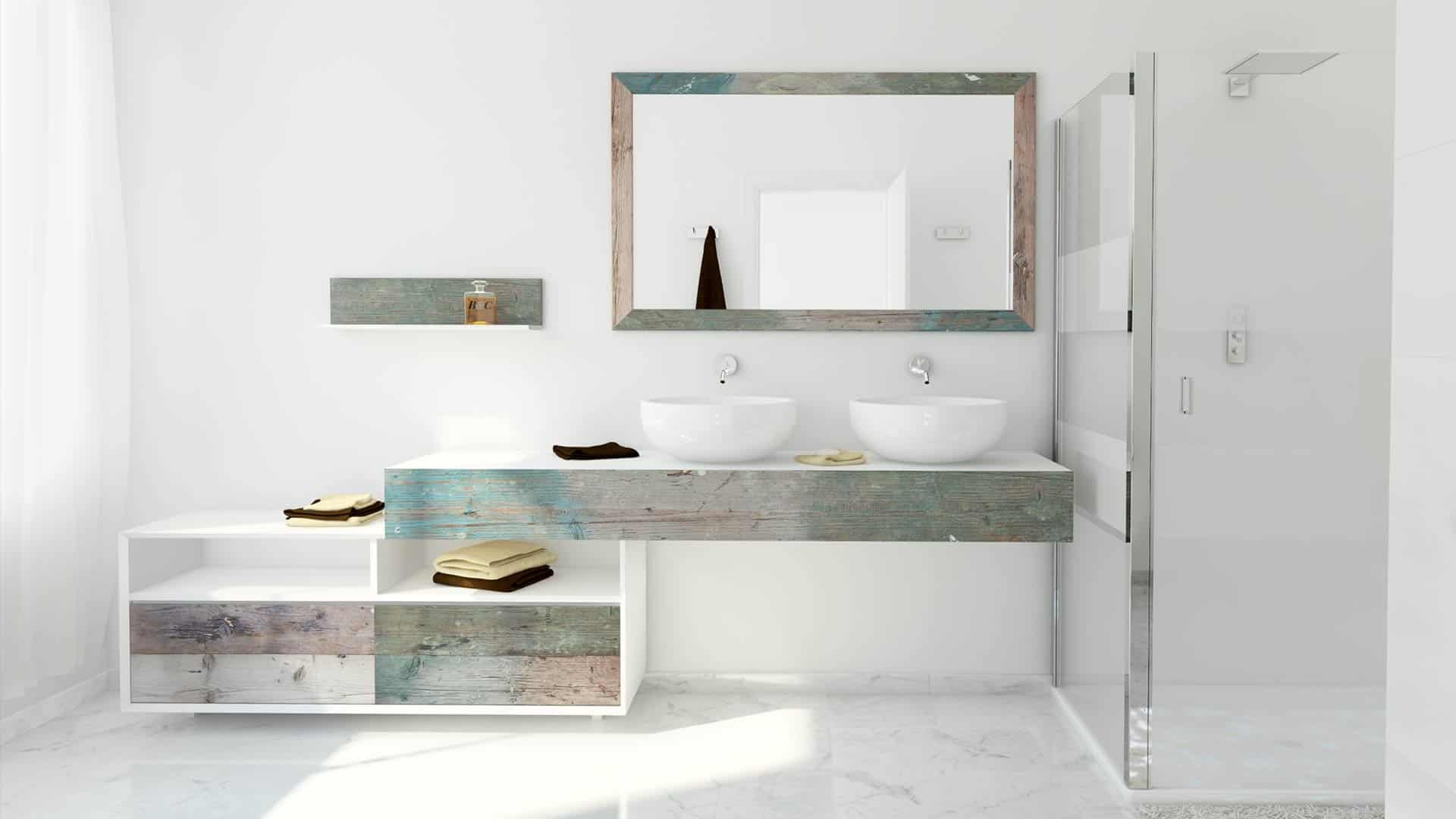 Beautiful Weathered Wood Look Bathroom Vanities: Stunningly Beautiful