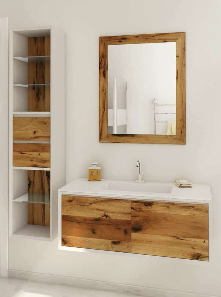 Best A wall mount vanity in Oak