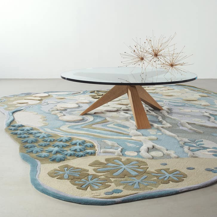 Angela Adams Also Creates Area Rugs That Boast A Relief Pattern This One Is Called Dune And Showcases An Abstracted Aerial Topographical