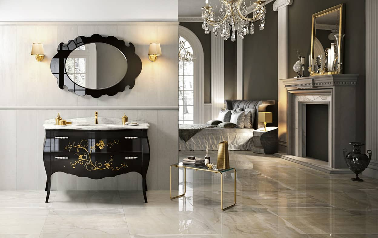 15 classic italian bathroom vanities for a chic style for Bathroom vanities vintage style