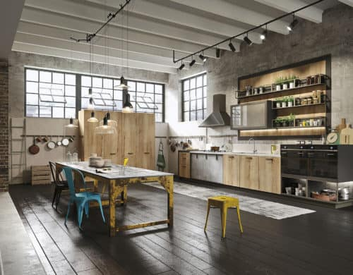 Kitchen Design for Lofts: 3 Urban Ideas from Snaidero