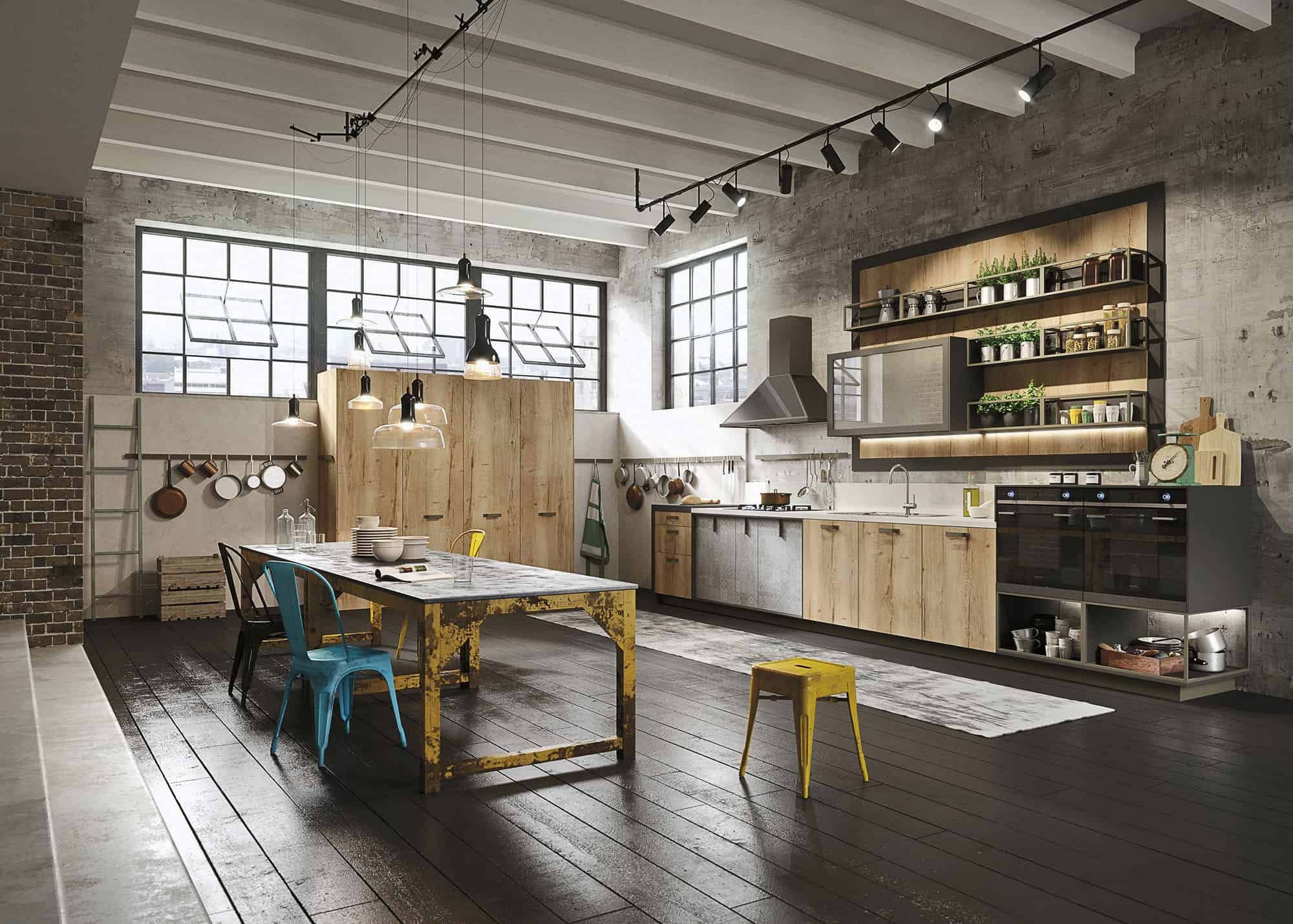 Kitchen Design for Lofts: 3 Urban Ideas from Snaidero