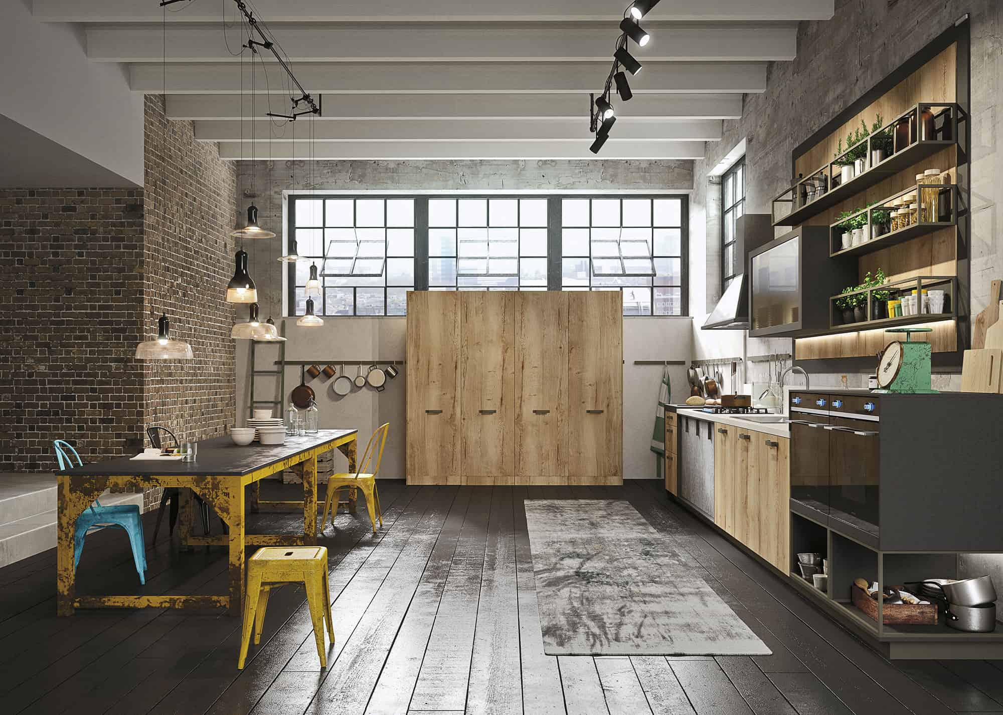 Uncategorized Urban Kitchen Design kitchen design for lofts 3 urban ideas from snaidero the industrial style is fitted with their new nolita handle in a peltro finish