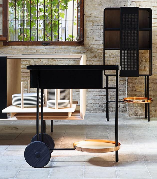 miras float copper bar cart 12 Bar Cart Designs for Entertaining in Style