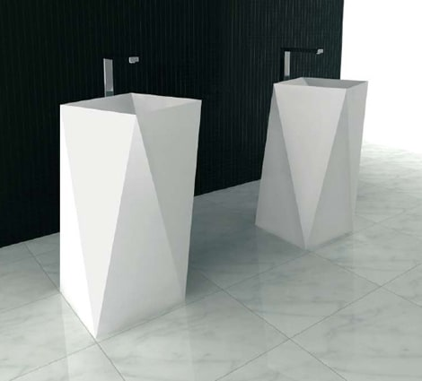 freestanding washbasin sharp artceram