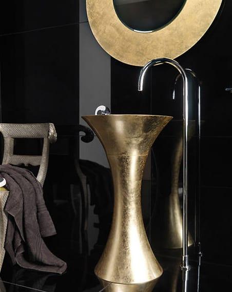 Regia Calice washstand in Gold