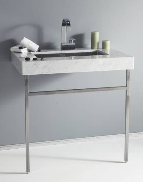 View In Gallery Minimalist Bathroom Vanity Console Julien Vanity Consoles  For Bathrooms: Modern, Vintage, Art Deco