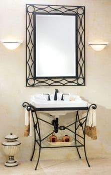 Vanity Consoles For Bathrooms Modern Vintage Art Deco - Wrought iron bathroom vanity stand