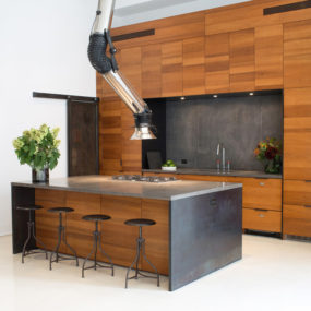 2 Kitchens with Unusual Stove Hoods