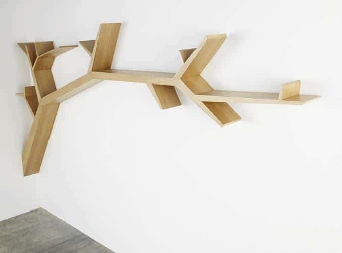 Oliveiru0027s Bookshelf Tree Branch Cleverly Tapers The Width Of Each End Branch  Just Like Mother Nature Does.