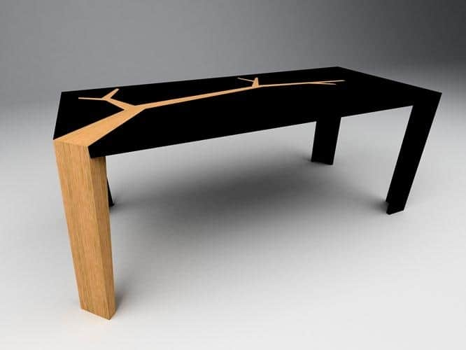 With A Less Literal Interpretation Of Trees, The Dining Table Angkor By  Oliveir Dolle Uses One Of Its Legs As The Tree Trunk And Continues The  Graphic ...