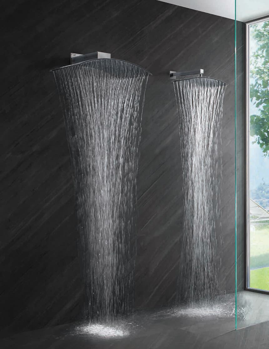 Commercial Polished Shower Rod Only by Donner Bath