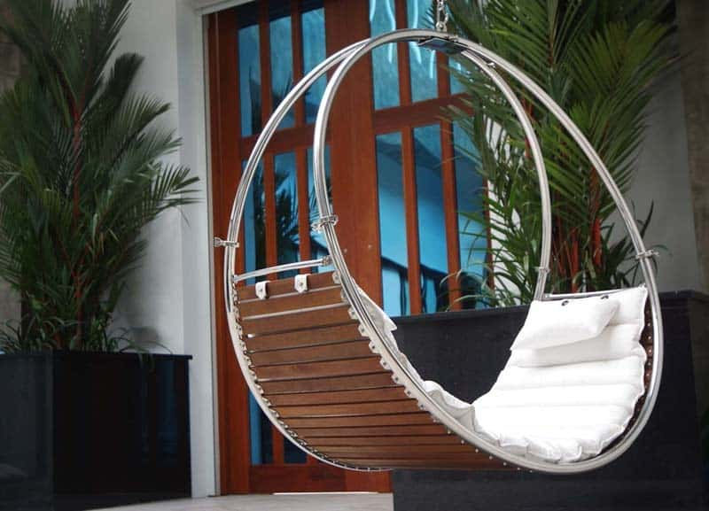 A Hanging Seat Built For Two, The Duality Double Swing Bed By Trinity  Hammocks Makes Sharing A Seat A Fun Way To U201chang Outu201d.