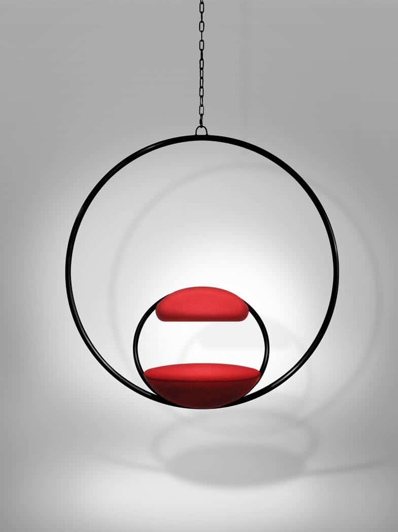 Cool chairs that hang from the ceiling - How Elegant Is This Hanging Hoop Chair By Lee Broom The Minimalist Double O Design Is Simplicity At Its Best And The Smaller O Shape That Is The Seat And