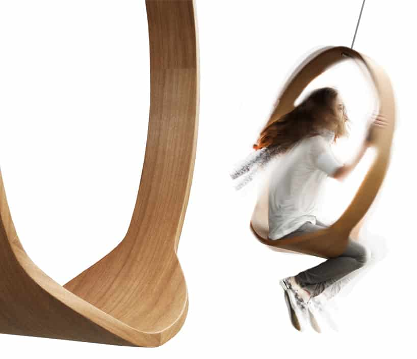 I Love A Fun Design And The Swing Chair By Iwona Kosicka Is Not Only To Look At Its Use Sleek Sassy Seat Boasts Minimalist