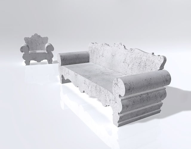 ... design styles is also a favorite of stone designers such as this  contemporary design from Arredo di Pietra and what's awesome about this sofa  is that ...