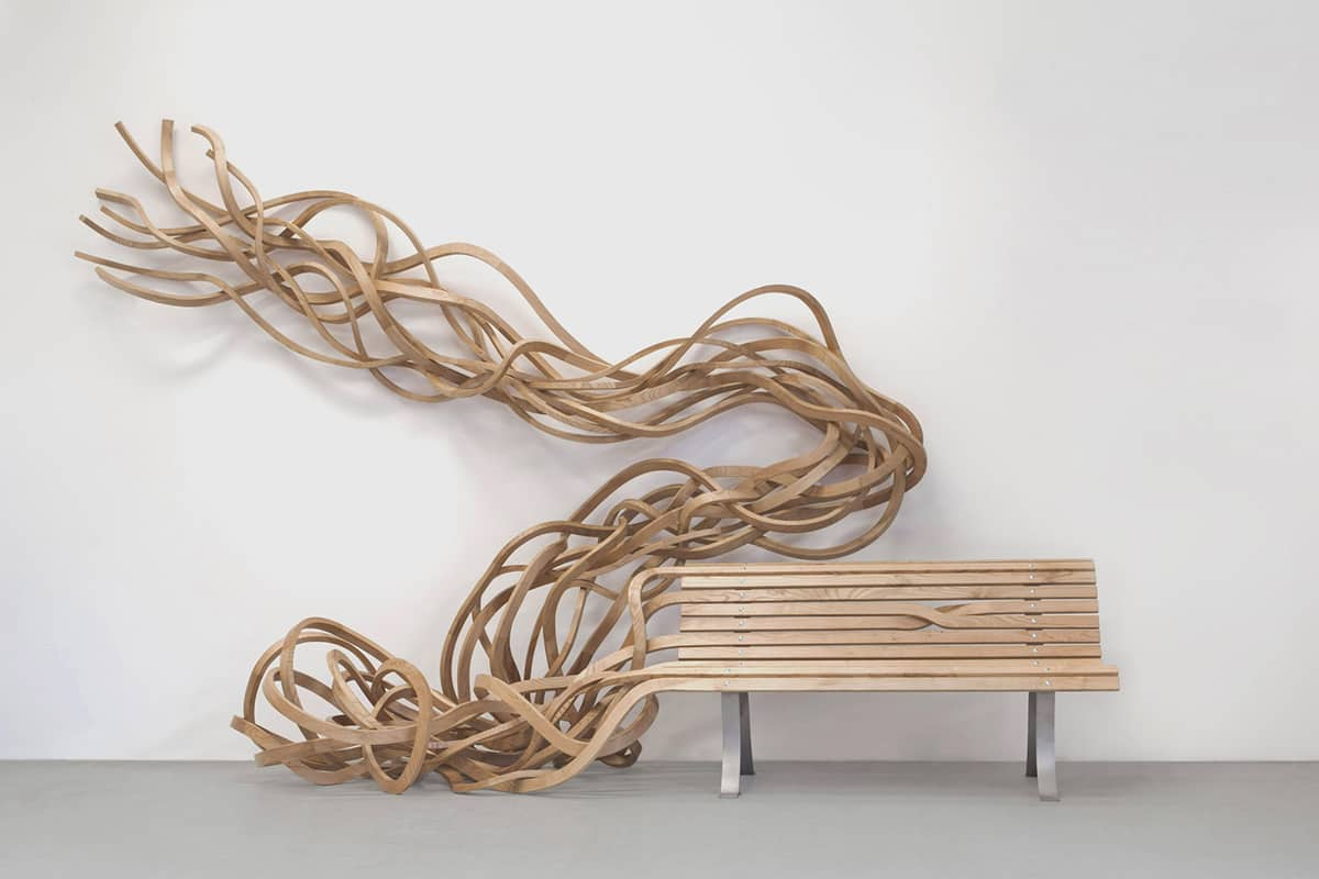 Speaking of impossible design, how about this Spaghetti Bench? Designed by  Pablo Reinoso, his muse for this unusual creation was wooden furniture that  is ...