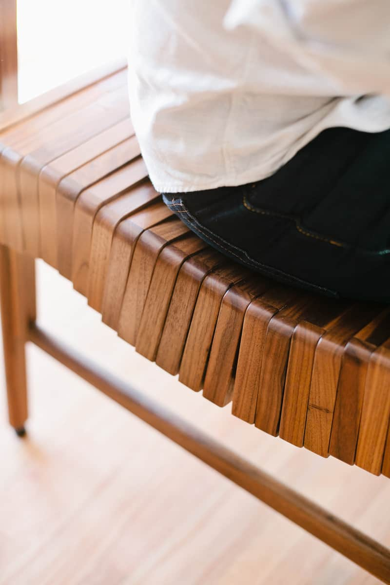 wooden design furniture. Body Weight Compresses Each Wooden Unit To Conform The Shape Of Person Sitting Or Lying On It, Check Out This Video See How It Works. Design Furniture