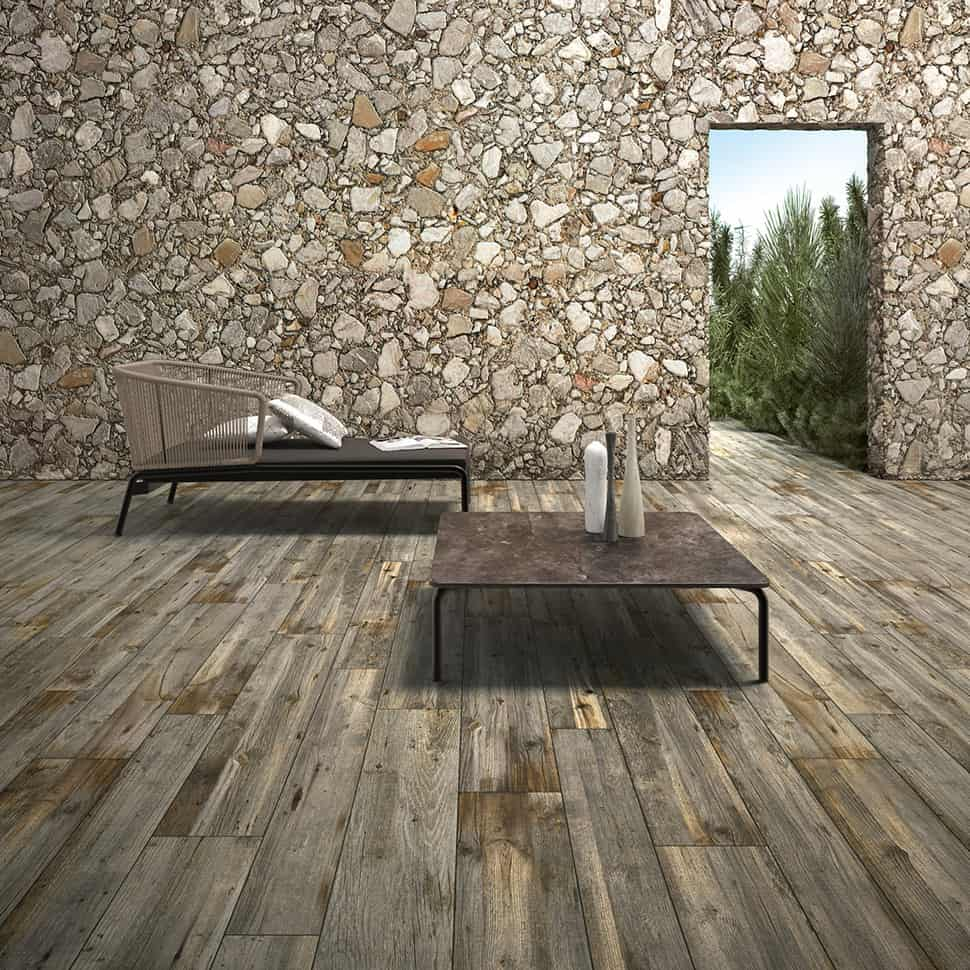 Wow, This Very Realistic Weathered Wood Look Tile Can Be Used On An Outdoor  Terrace And Is A Great Compliment To Natural Stone, From The Legni High  Tech ...