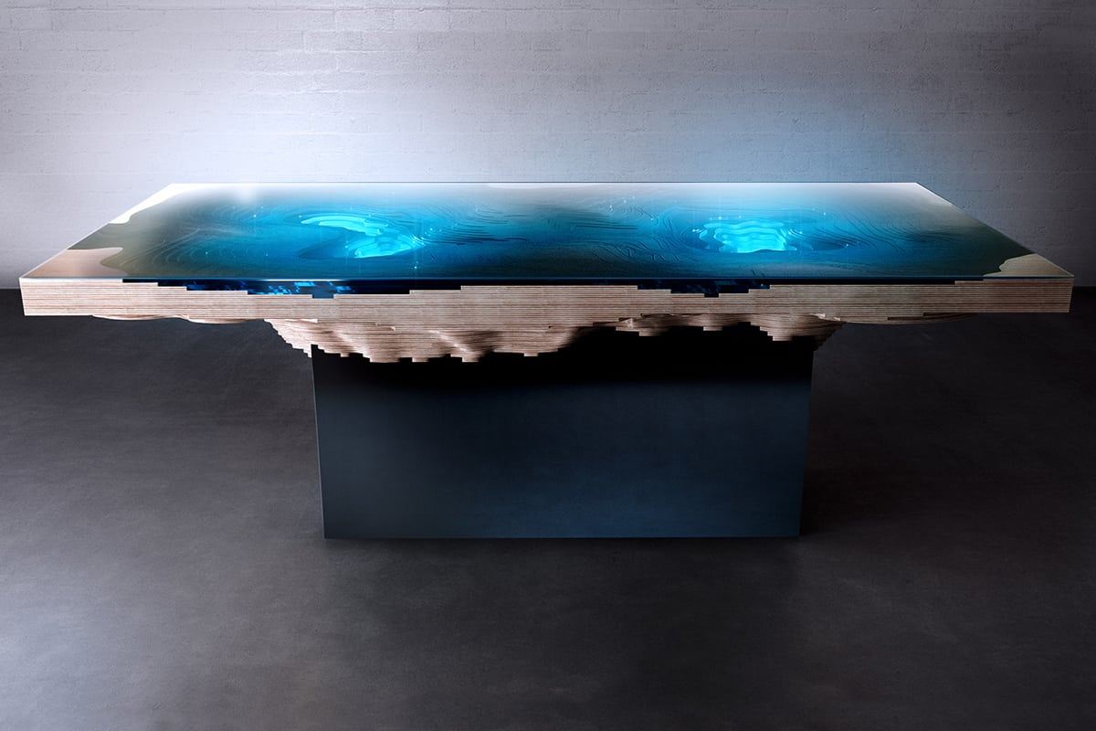 abyss dining table by duffy london  a slice of sea and land