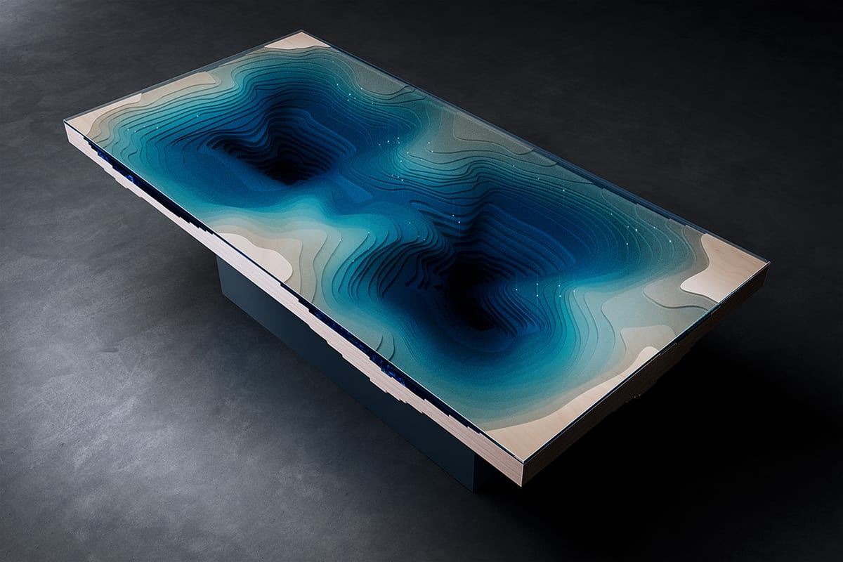 Abyss Dining Table by Duffy London: A Slice of Sea and Land