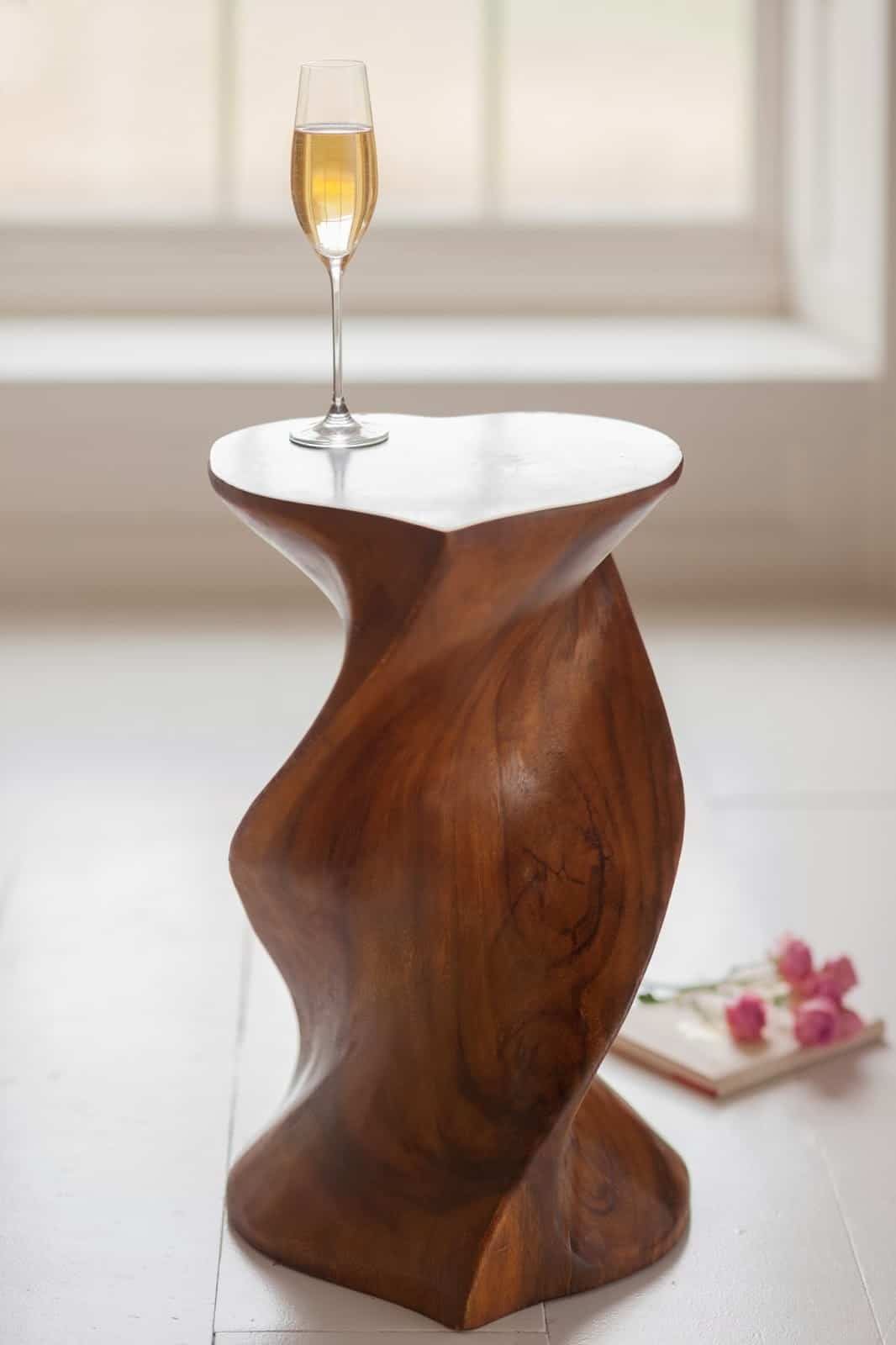 As A Beautiful Modern Piece Of Furniture, I Sure Love This Surin Love Heart  Table With Its Spiraling Base. Hand Spun From A Solid Monkey Pod, This  Romantic ...