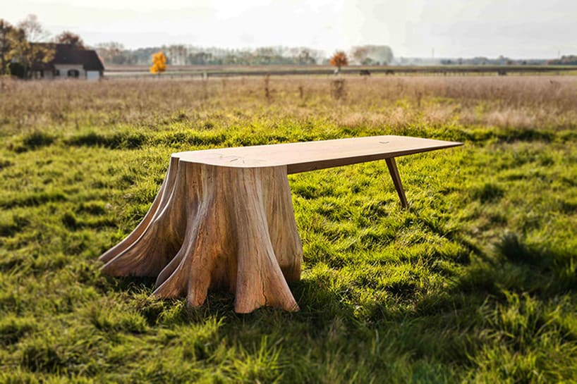 Lovely It Took 8 Months To Uproot Tree Stump And Form The Square Root Table