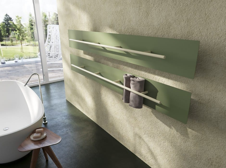 The Teso Towel Rail Warmer Is Sleek As Sleek Can Be. How Clever To Roll The  Towels And Place Them Vertically. And Itu0027s A Very Thin Design Available In  200 ...